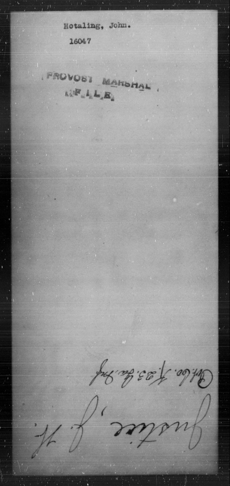 Hotaling, John - State: [Blank] - Year: [Blank]