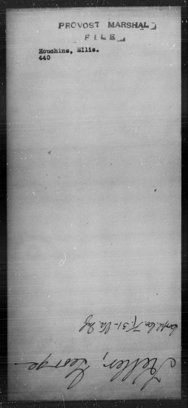 Houchin, Ellis - State: [Blank] - Year: [Blank]