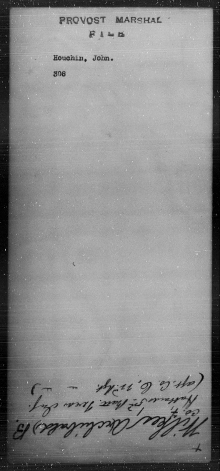 Houchin, John - State: [Blank] - Year: [Blank]