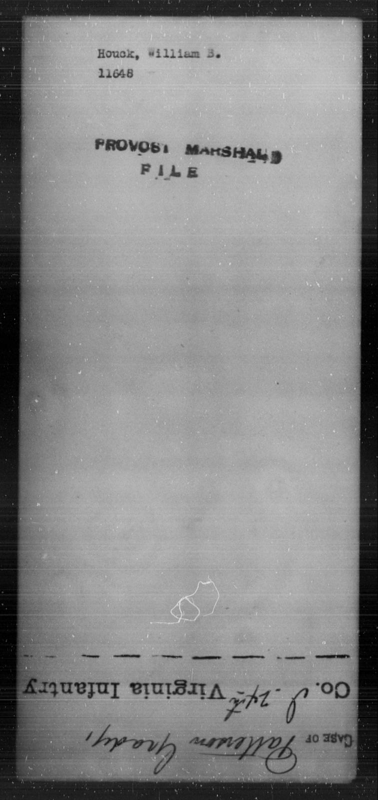 Houck, William B - State: [Blank] - Year: [Blank]