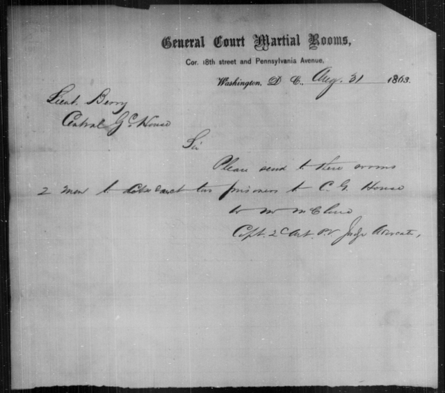 House, C G - State: District of Columbia - Year: 1863
