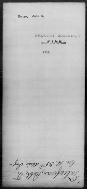 House, John S - State: [Blank] - Year: [Blank]