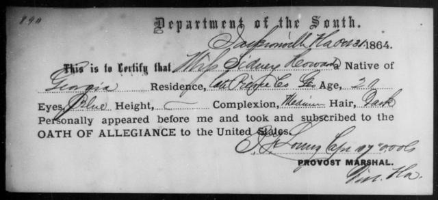 Howard, Sidney - State: Georgia - Year: 1864