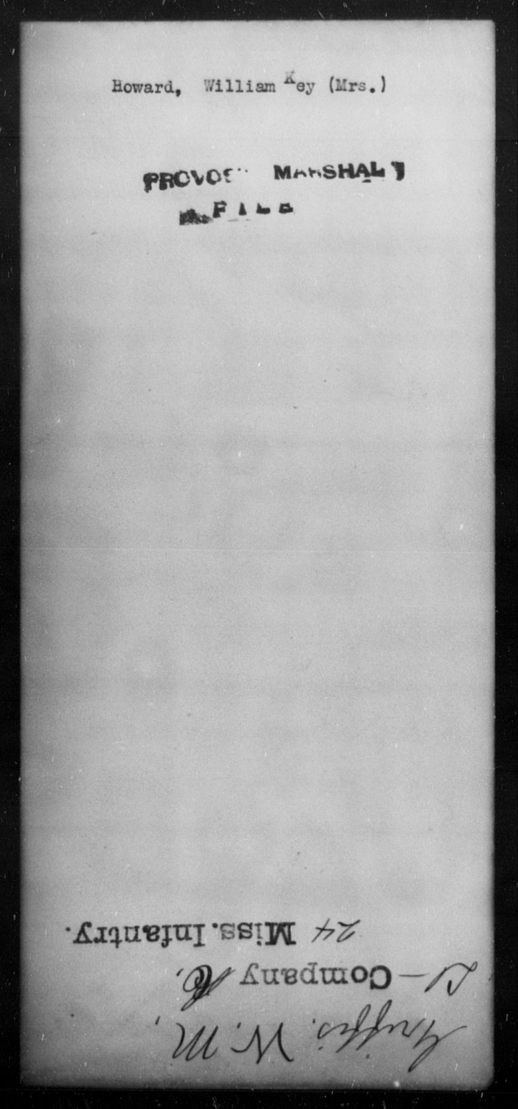 Howard, William Key - State: [Blank] - Year: [Blank]