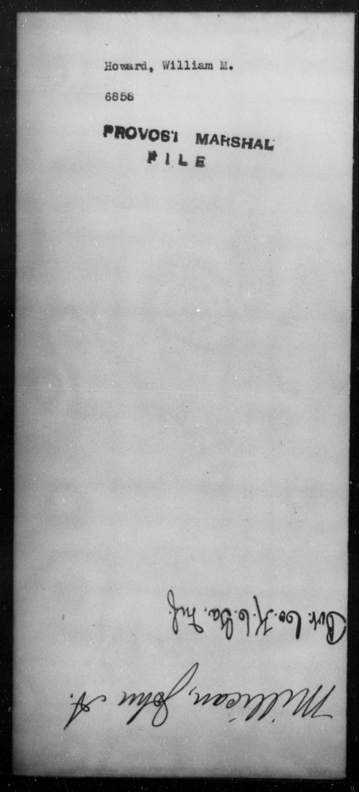 Howard, William M - State: [Blank] - Year: [Blank]