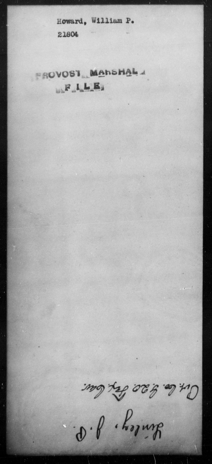 Howard, William P - State: [Blank] - Year: [Blank]