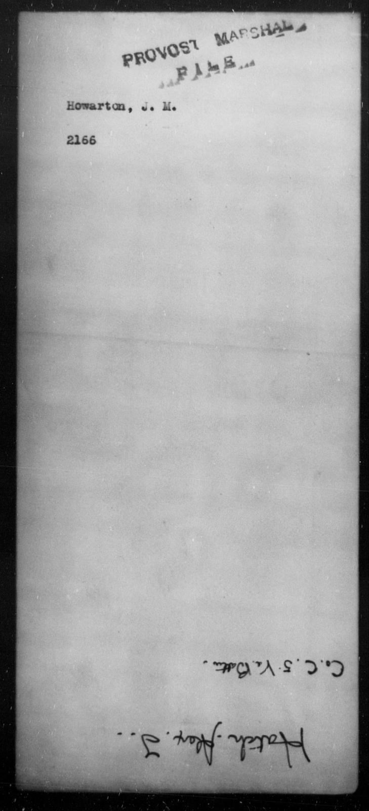 Howarton, J M - State: [Blank] - Year: [Blank]