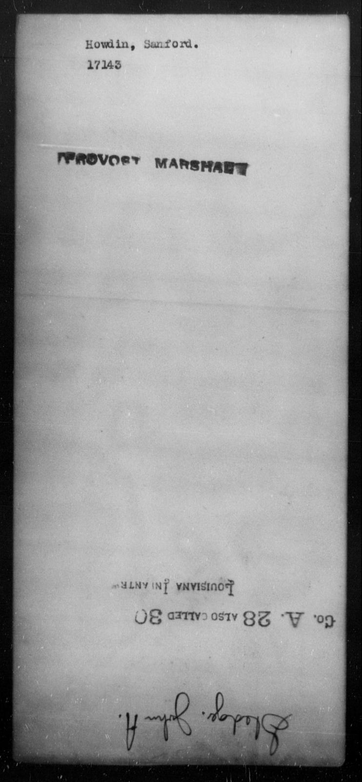 Howdin, Sanford - State: [Blank] - Year: [Blank]
