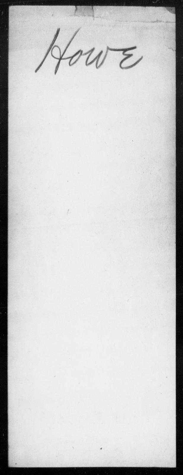 Howe, [Blank] - State: [Blank] - Year: [Blank]