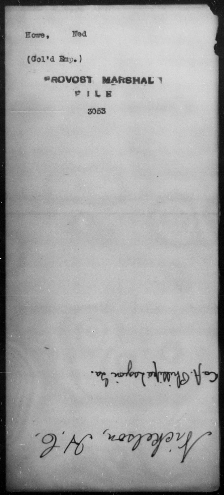 Howe, Ned - State: [Blank] - Year: [Blank]