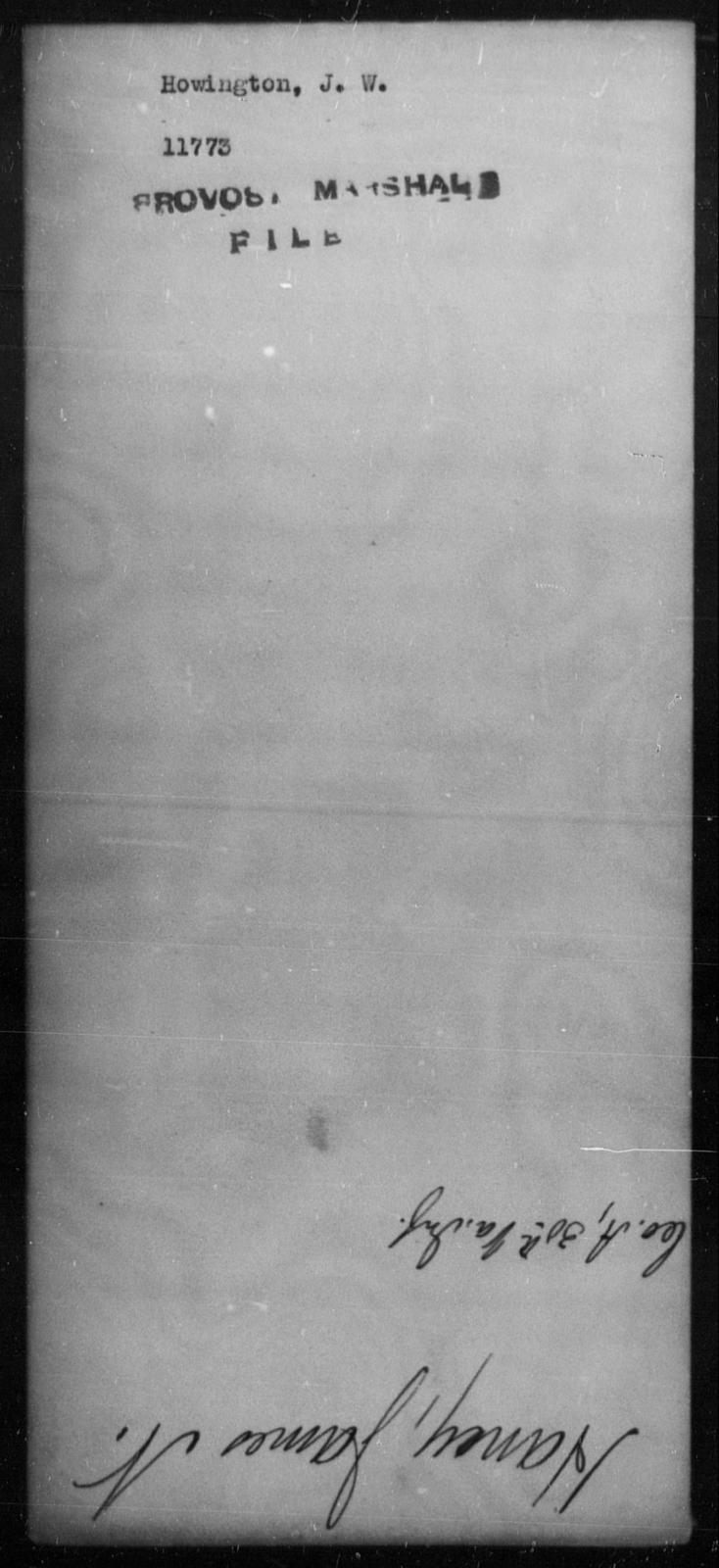 Howington, J W - State: [Blank] - Year: [Blank]