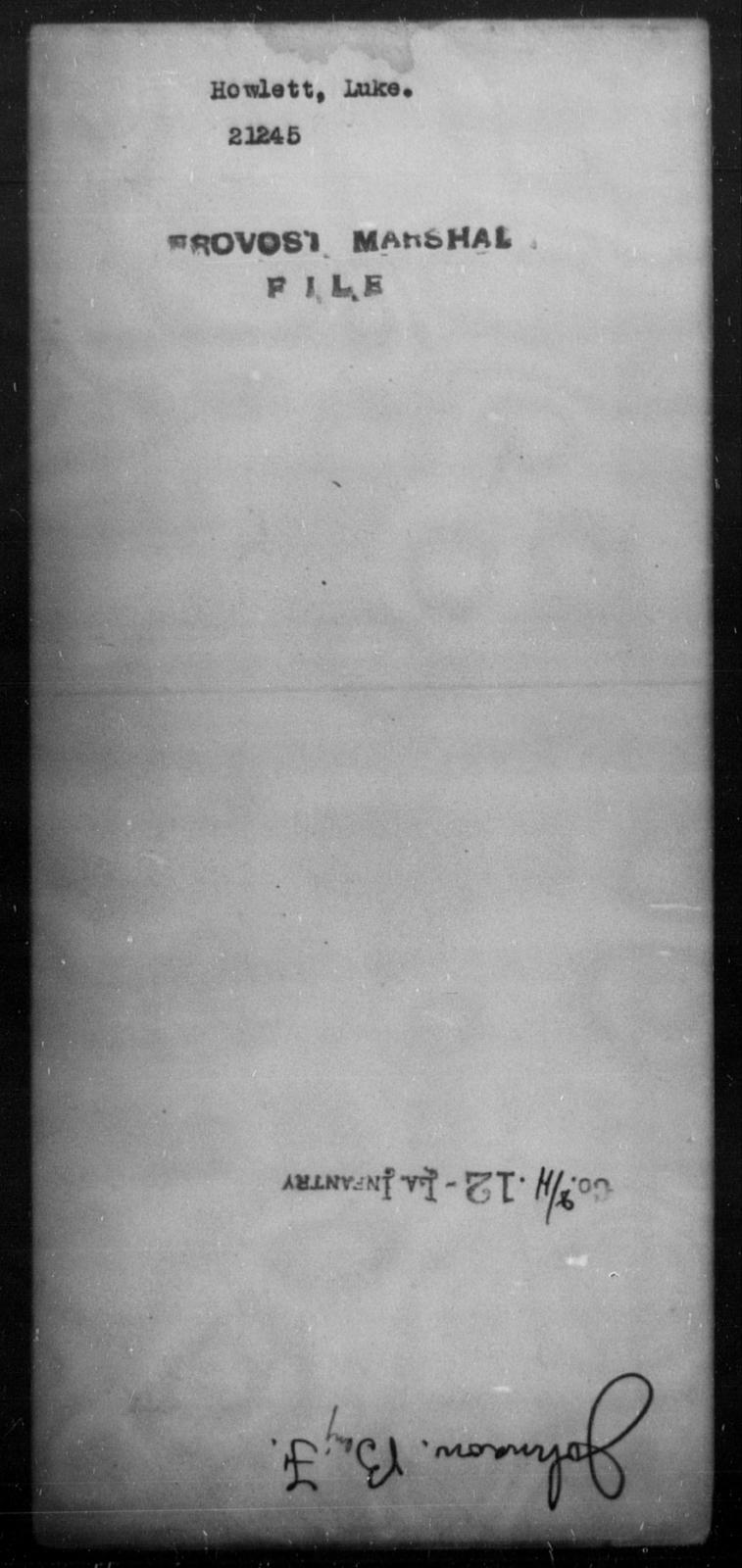 Howlett, Luke - State: [Blank] - Year: [Blank]