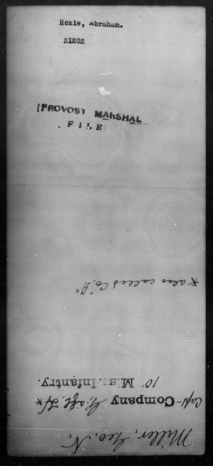 Hoxie, Abraham - State: [Blank] - Year: [Blank]
