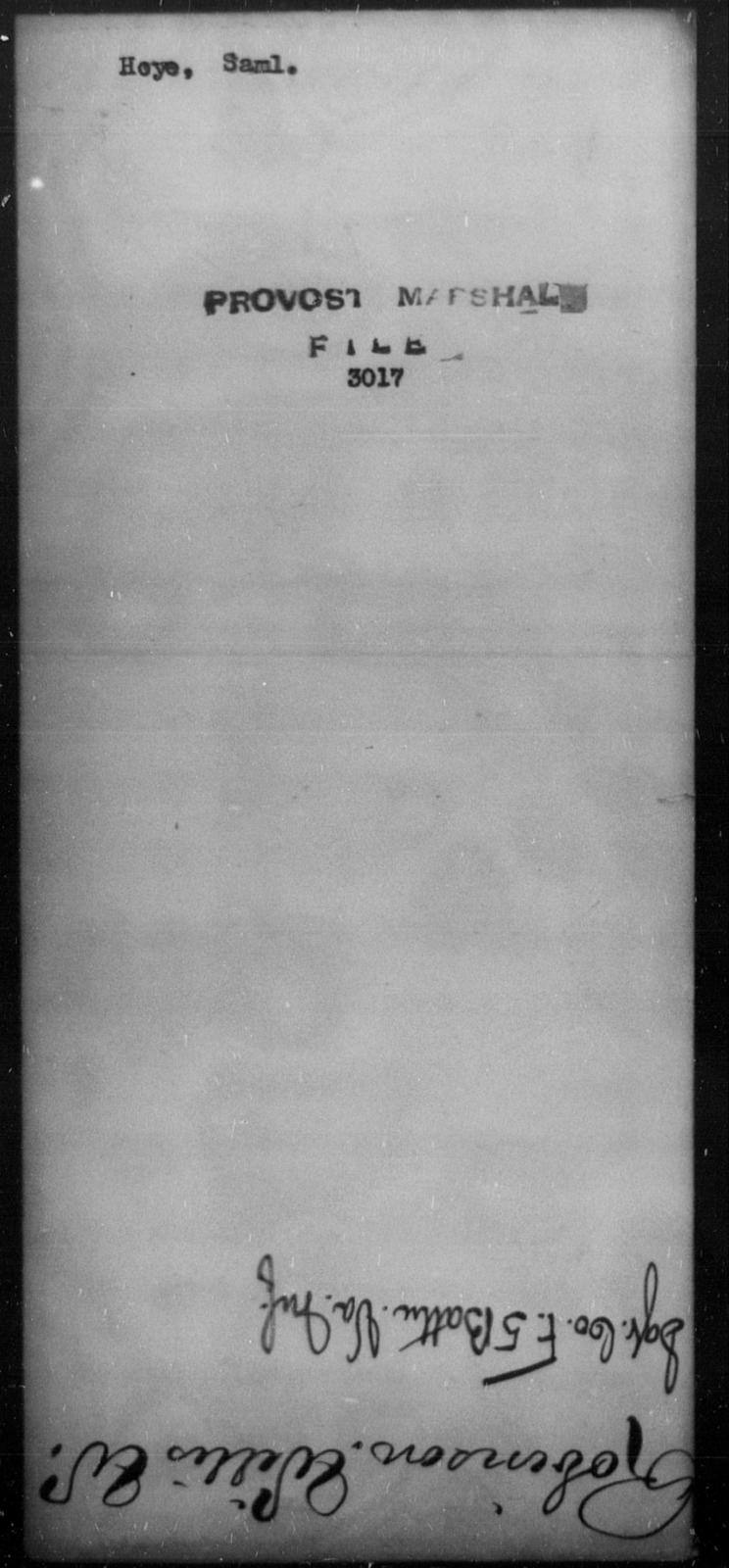 Hoye, Saml - State: [Blank] - Year: [Blank]