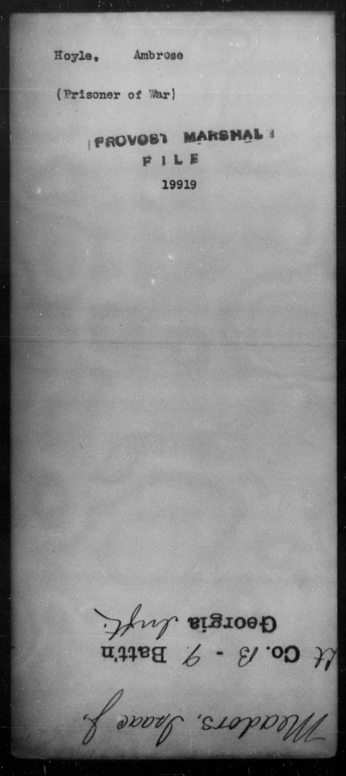 Hoyle, Ambrose - State: [Blank] - Year: [Blank]