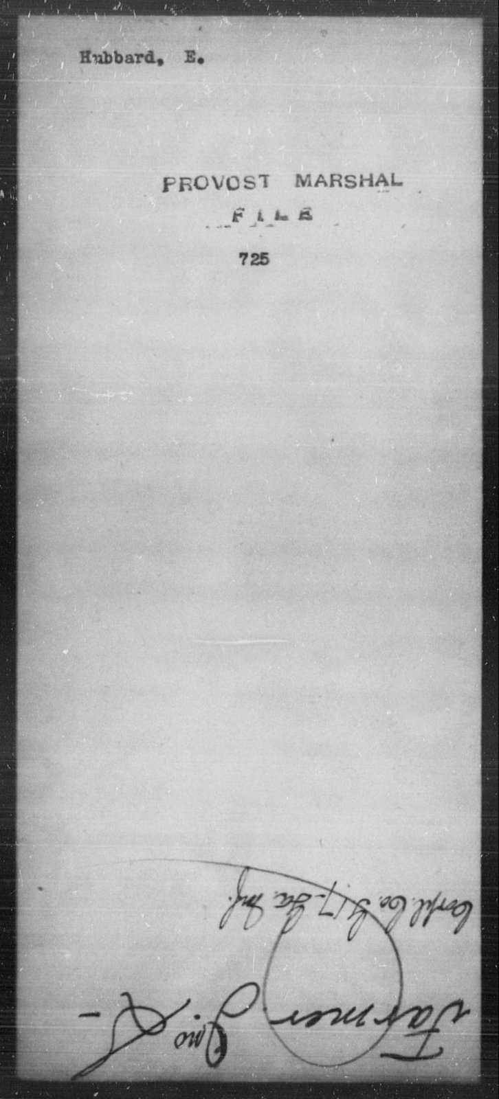 Hubbard, E - State: [Blank] - Year: [Blank]