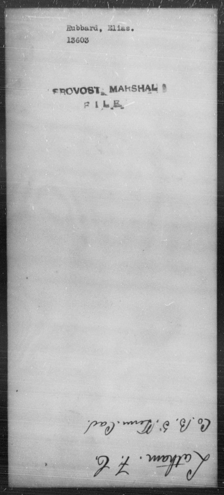 Hubbard, Elias - State: [Blank] - Year: [Blank]