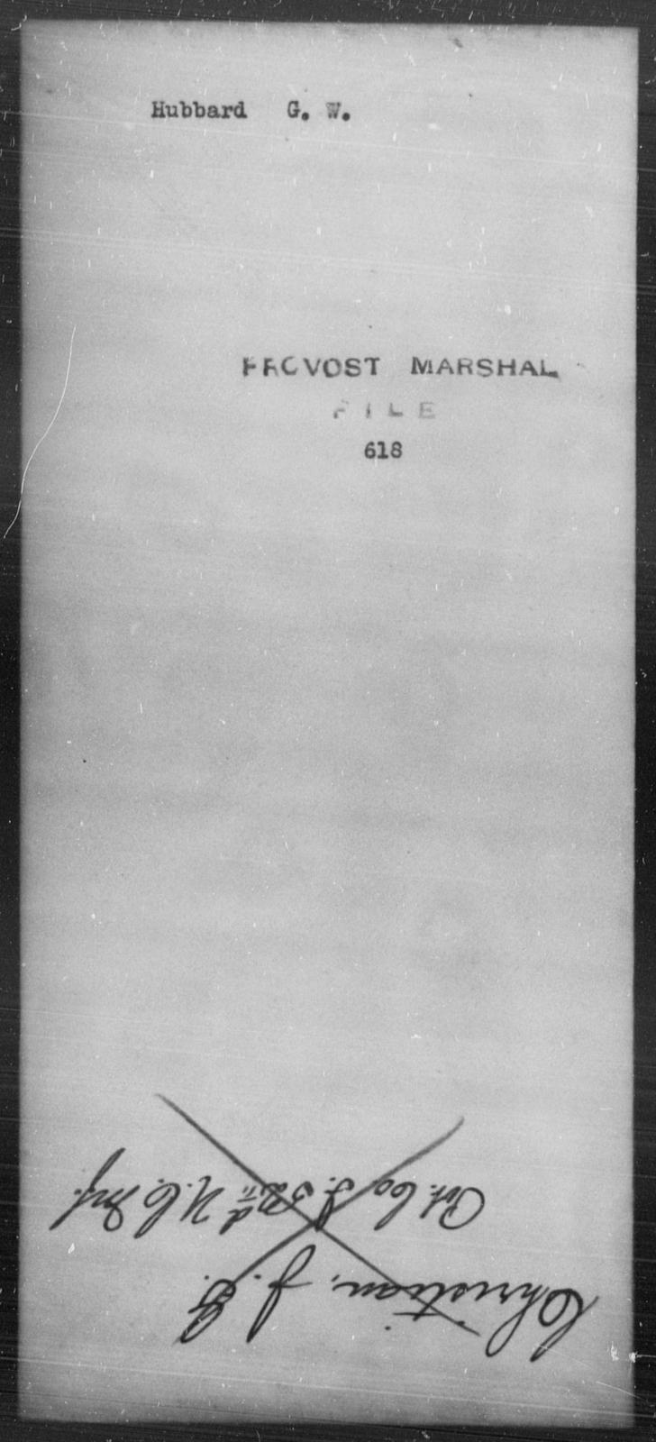 Hubbard, G W - State: [Blank] - Year: [Blank]