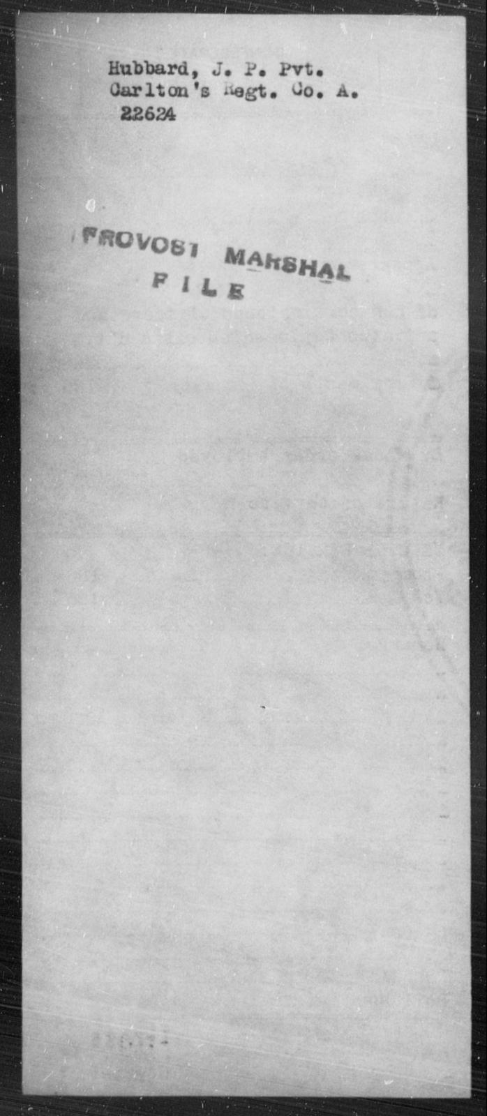 Hubbard, J P - State: [Blank] - Year: [Blank]