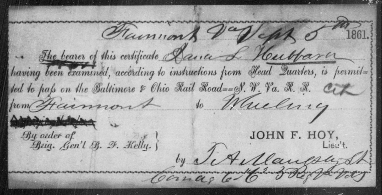 Hubbard, Jana L - State: Ohio - Year: 1861