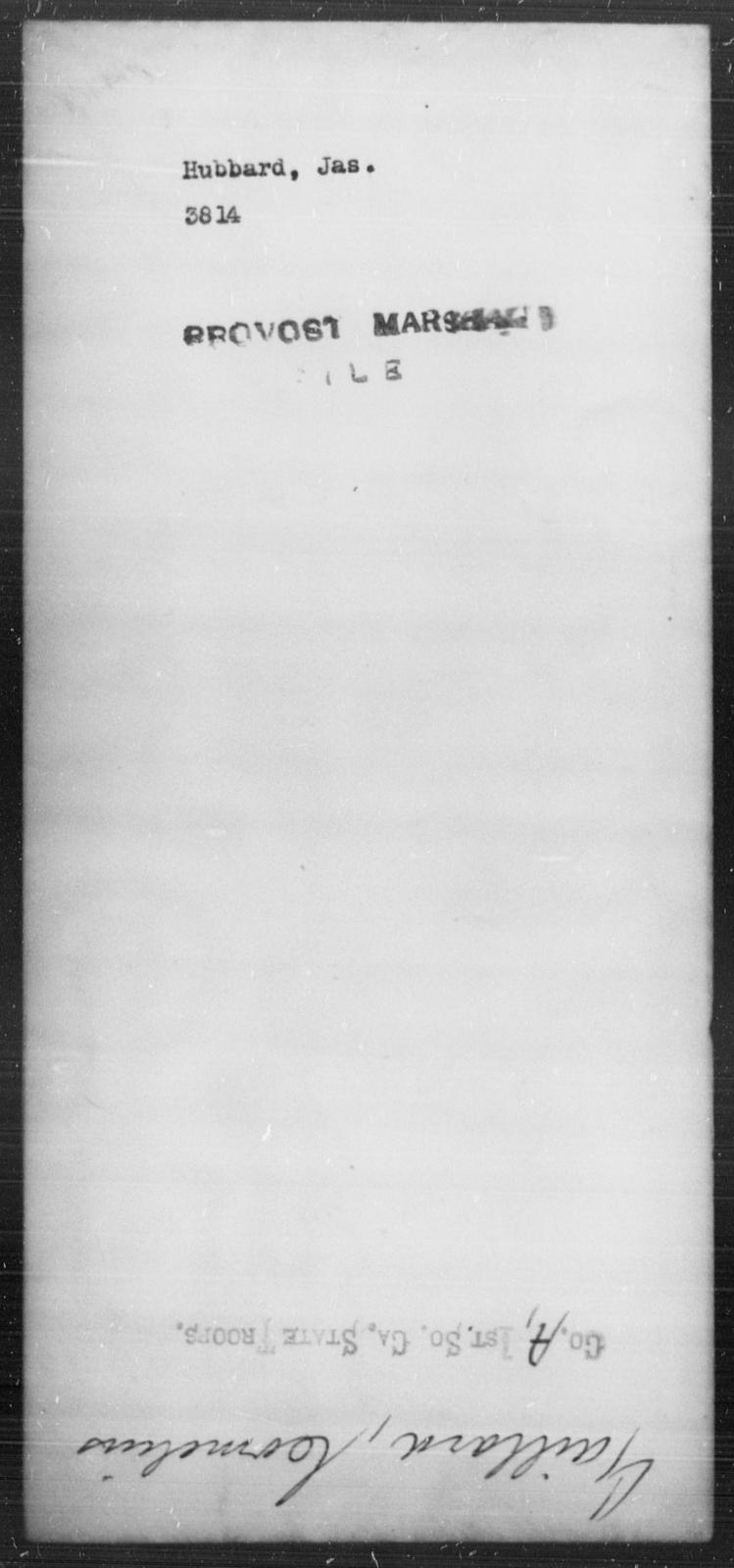 Hubbard, Jas - State: [Blank] - Year: [Blank]