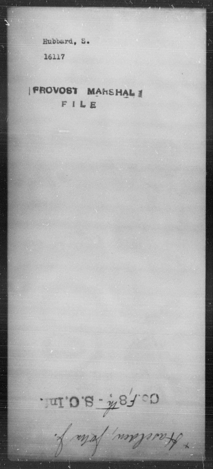 Hubbard, S - State: [Blank] - Year: [Blank]