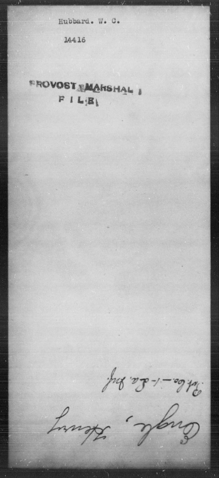 Hubbard, W C - State: [Blank] - Year: [Blank]