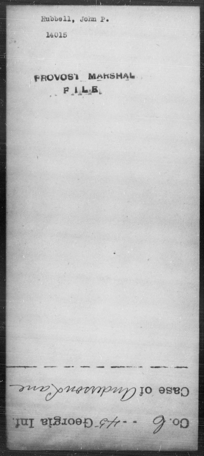 Hubbell, John P - State: [Blank] - Year: [Blank]
