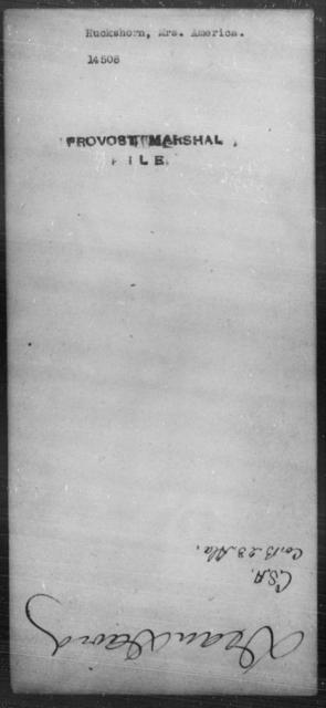 Huckshorn, America - State: [Blank] - Year: [Blank]