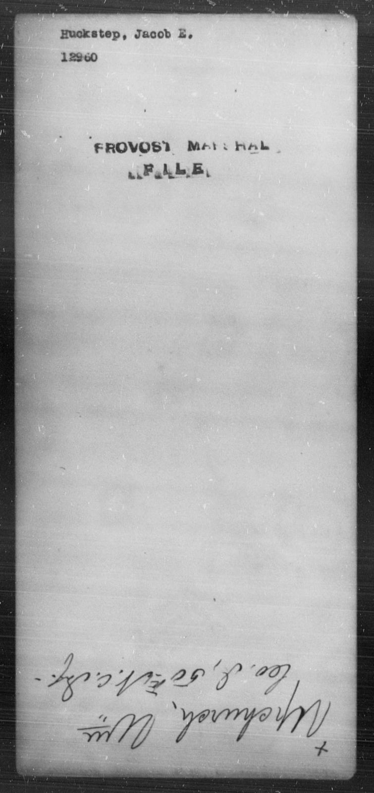 Huckshorn, Jacob E - State: [Blank] - Year: [Blank]