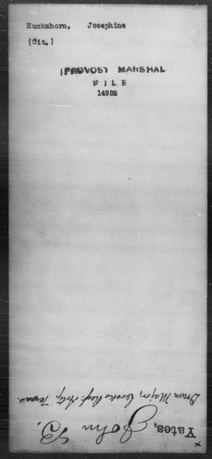 Huckshorn, Josephine - State: [Blank] - Year: [Blank]