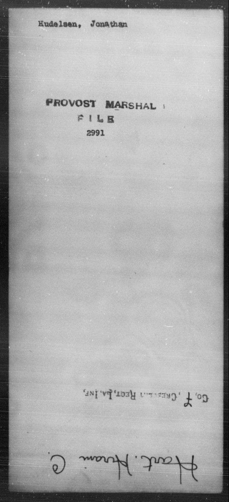 Hudelsen, Jonathan - State: [Blank] - Year: [Blank]