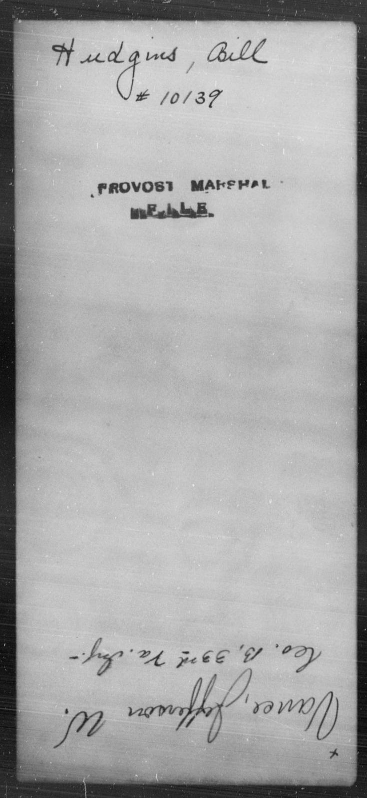 Hudgins, Bill - State: [Blank] - Year: [Blank]