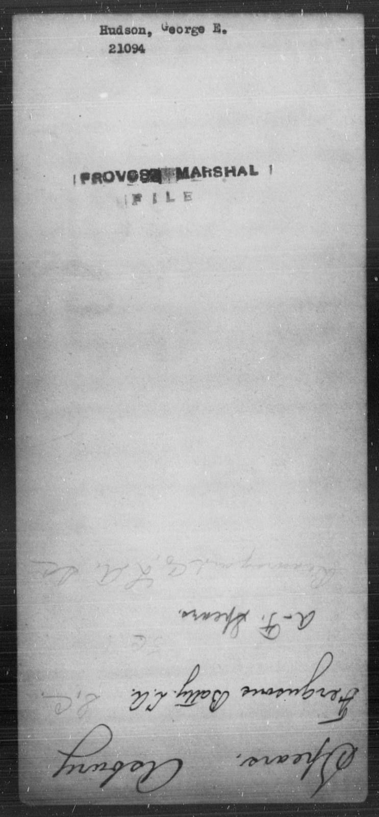 Hudson, George E - State: [Blank] - Year: [Blank]