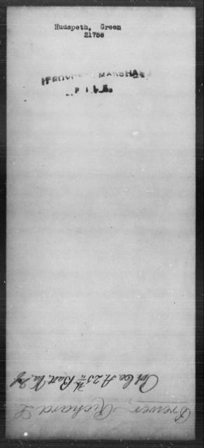 Hudspeth, Green - State: [Blank] - Year: [Blank]