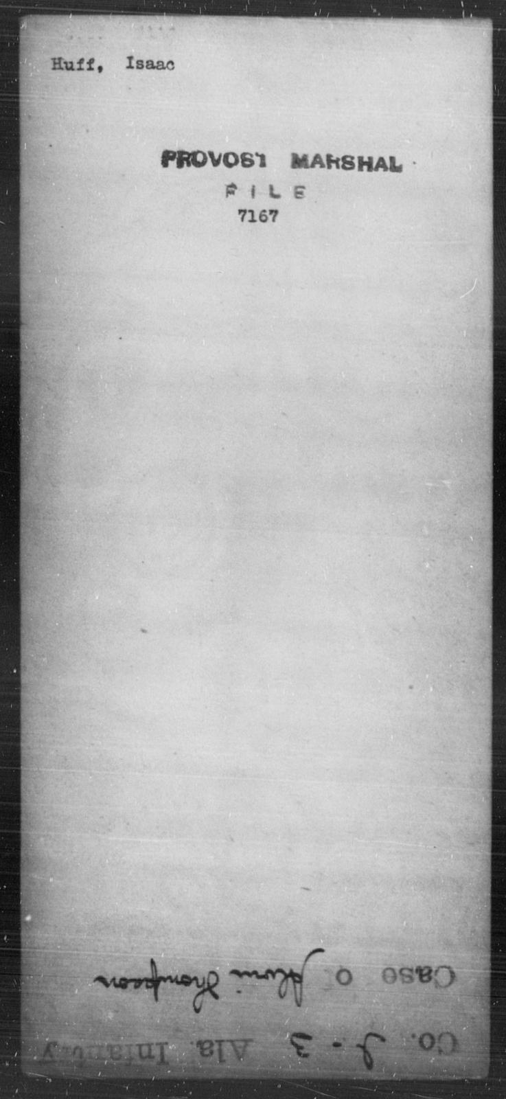 Huff, Issac - State: [Blank] - Year: [Blank]