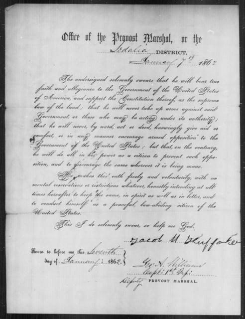 Huffaker, Jacob M - State: [Blank] - Year: 1862