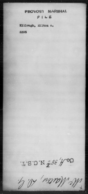 Killough, Milton A - State: [Blank] - Year: [Blank]
