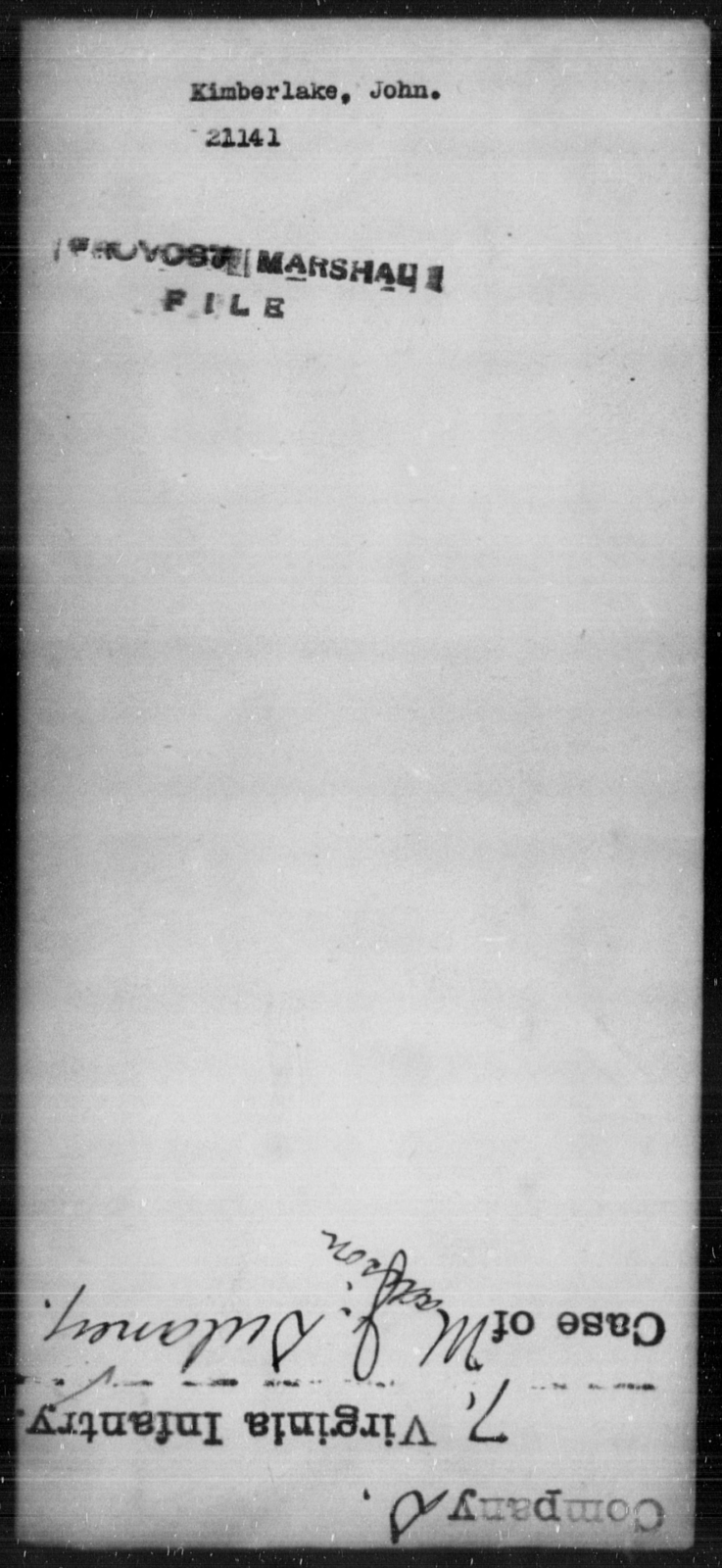 Kimberlake, John - State: [Blank] - Year: [Blank]
