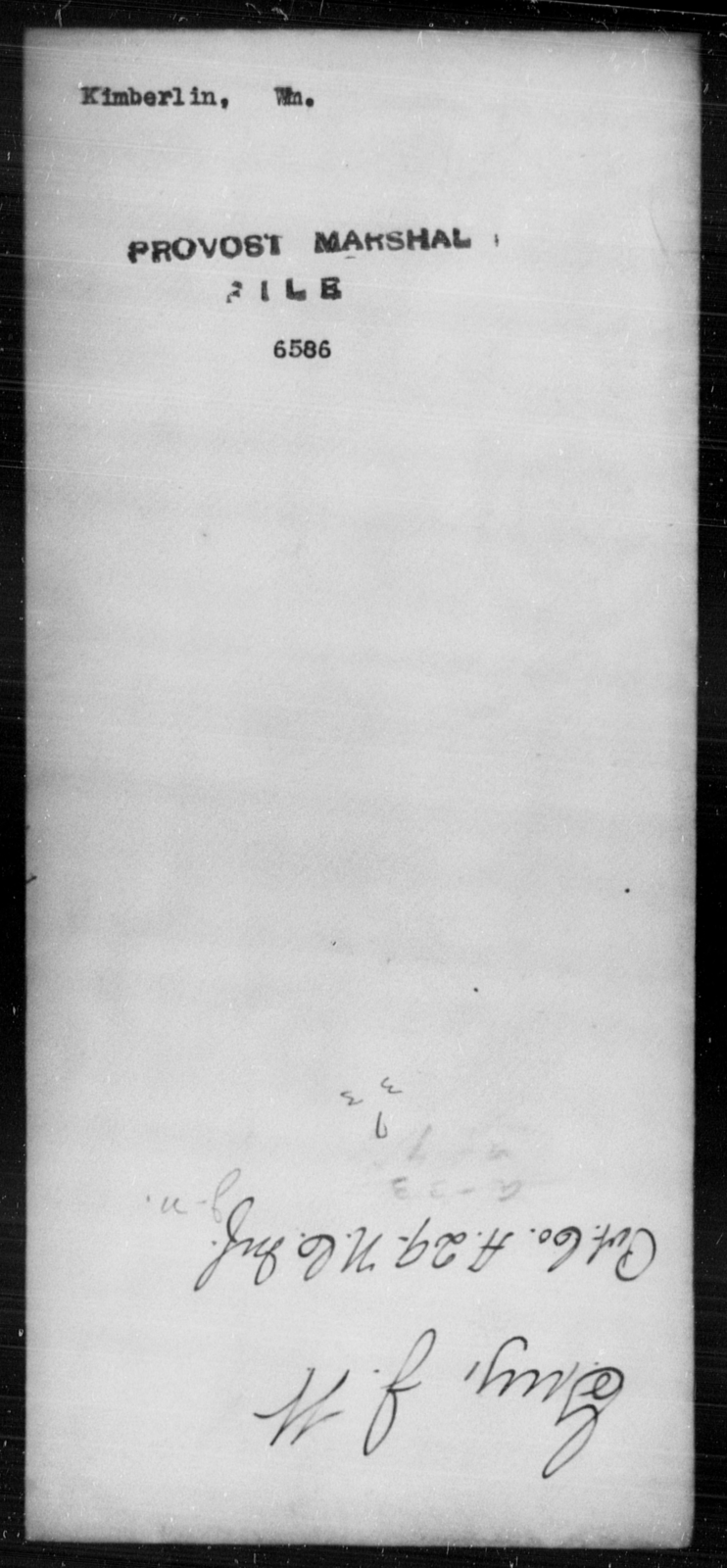 Kimberlin, Wm - State: [Blank] - Year: [Blank]