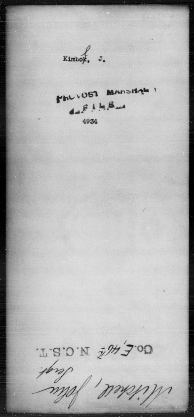 Kimbol, J - State: [Blank] - Year: [Blank]