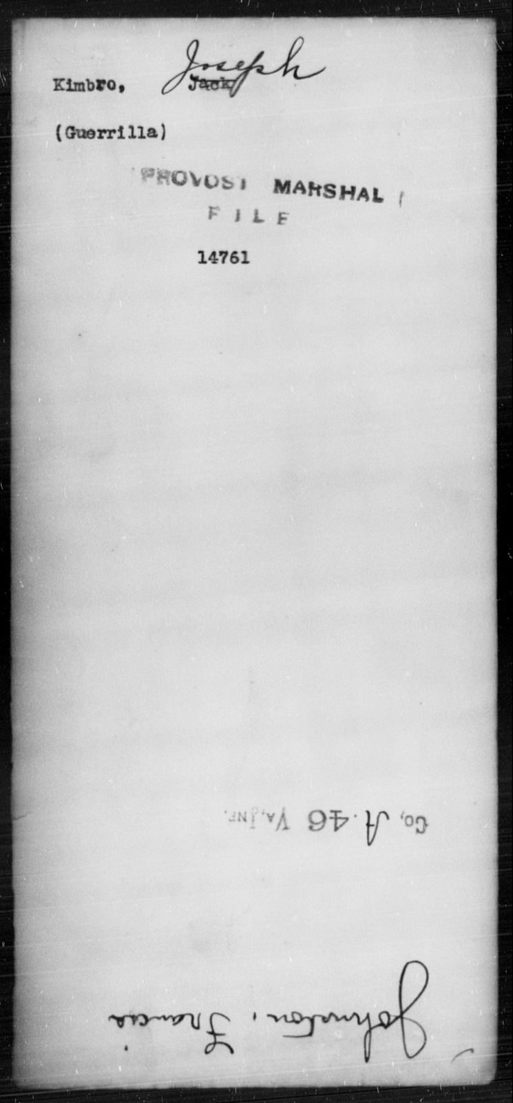 Kimbro, Joseph - State: [Blank] - Year: [Blank]