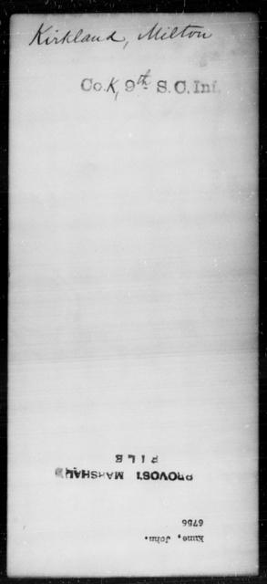 Kirkland, Milton - State: [Blank] - Year: [Blank]