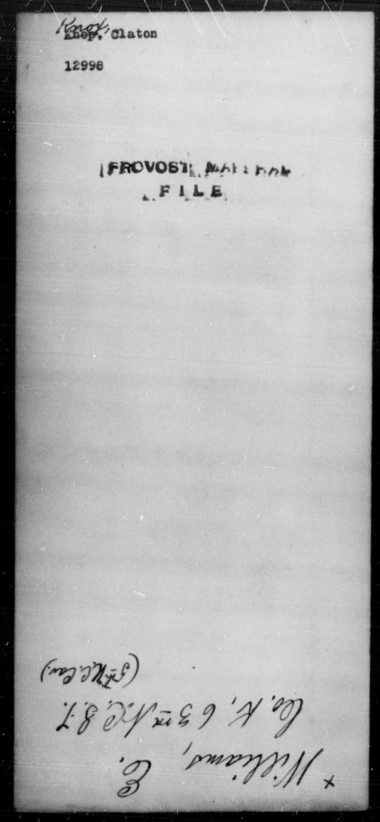 Knox, Claton - State: [Blank] - Year: [Blank]