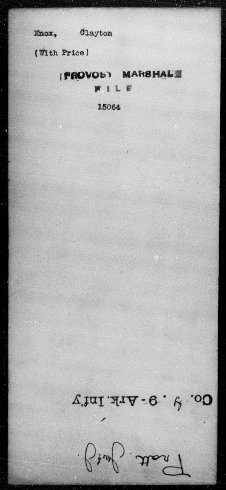 Knox, Clayton - State: [Blank] - Year: [Blank]