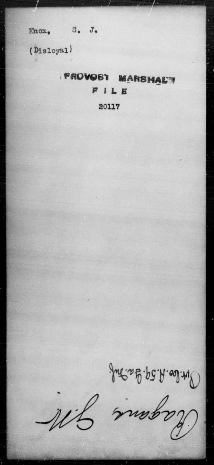 Knox, S J - State: [Blank] - Year: [Blank]