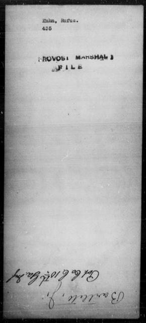 Kuhn, Rufus - State: [Blank] - Year: [Blank]