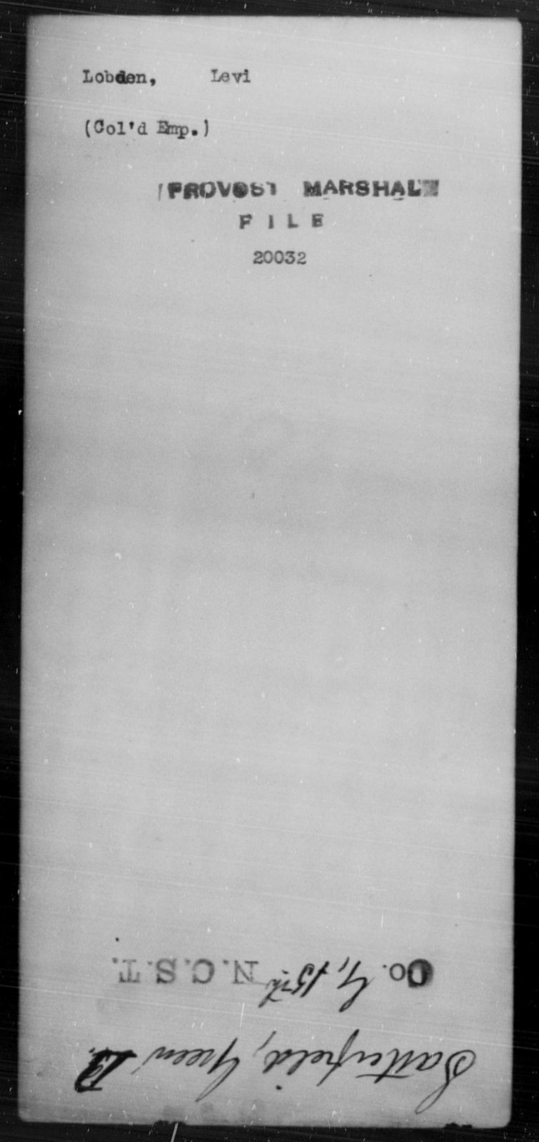 Lobden, Levi - State: [Blank] - Year: [Blank]