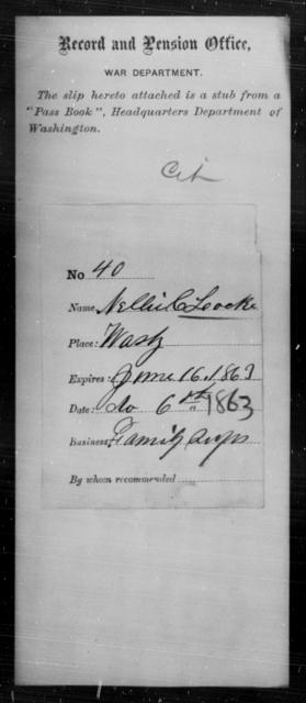 Lock, Nellie C - State: Washington - Year: 1863