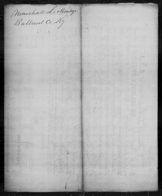 Lockridge, Marshall - State: Kentucky - Year: [Blank]